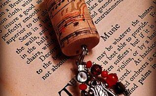 wine cork key chains, crafts