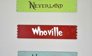 easy hand painted signs tutorial, crafts, painting, Here are a few of the finished book place signs