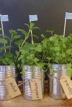 mini herb garden, gardening, repurposing upcycling, mini herb garden