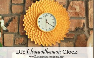 chrysanthemum clock or mirrors made with spoons, crafts