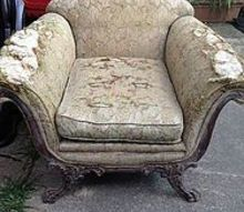 q what would you so with this old chair, painted furniture, reupholster