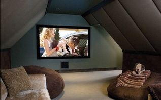 attic idea tv room, entertainment rec rooms