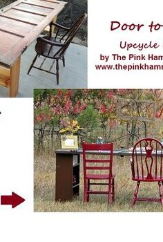 old door to new desk upcycle diy tutorial, doors, home decor, painted furniture, repurposing upcycling, shelving ideas, woodworking projects