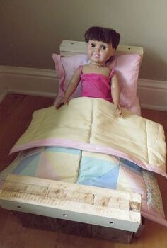 pallet wood doll bed, pallet