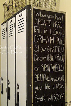 diy locker makeover, chalk paint, chalkboard paint, laundry rooms, painting, storage ideas