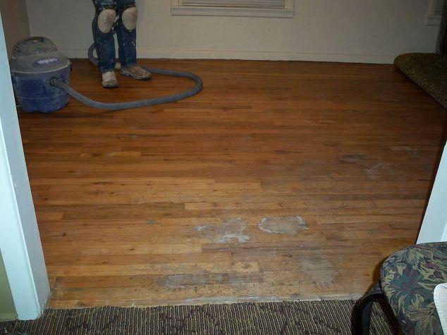 refinishing 60 year old hardwood floors, flooring, hardwood floors,  painting, Before the - Refinishing 60 Year Old Hardwood Floors Hometalk