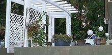 almost complete plastic low maintenance arbor walked into home depot looking and, diy, gardening