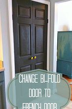 how to turn a bi fold door into a double door, closet, doors