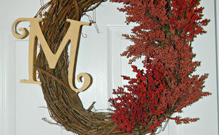 cheap and easy fall wreath tutorial oh also takes less than an hour to complete, crafts, seasonal holiday decor, wreaths, My finished Fall wreath