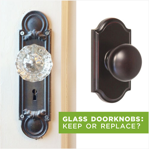 Vintage glass doorknobs keep or replace hometalk for 1920 door knobs