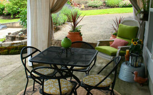 easy outdoor drapes, decks, home decor, outdoor living, patio, reupholster, window treatments