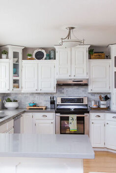 white kitchen reveal, home improvement, kitchen backsplash, kitchen design, painting