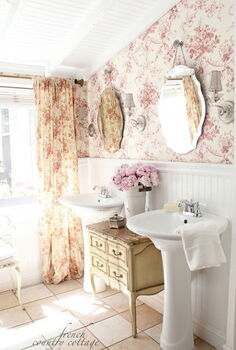 chest of drawers in the bathroom, bathroom ideas, home decor, painted furniture