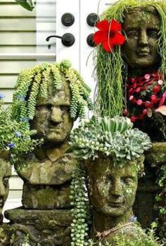garden decor must have it s so unique, gardening, I must have something like this in my future garden I have seen this before in Magazines and have tried to research on where to find them Would anyone happen to know where to find planters like these