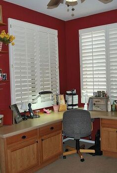 craft room spring clean reorganization, cleaning tips, craft rooms, home office, Creative work surface with drawers full of tools and supplies