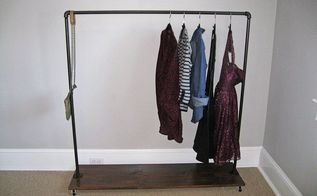 how to build a garment rack, closet, storage ideas