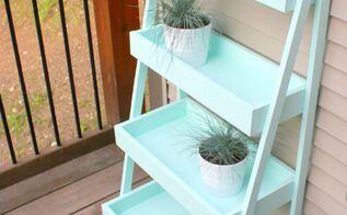 diy ladder shelf, repurposing upcycling, shelving ideas
