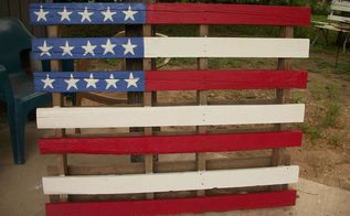 flag pallet, painting, pallet, repurposing upcycling, Flag made from pallet