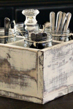 diy vintage caddy, mason jars, repurposing upcycling, Mason Jar Caddy