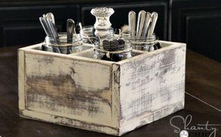 diy vintage caddy, mason jars, repurposing upcycling, Mason Jar Caddy