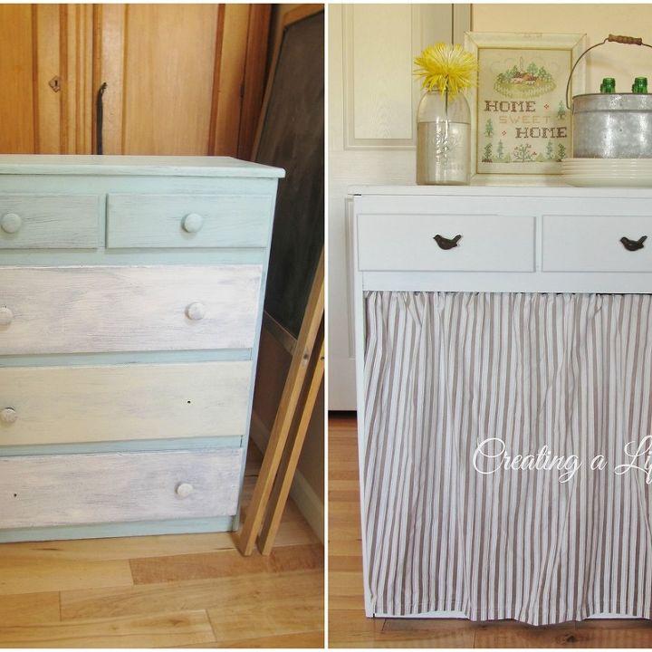 DIY Farmhouse Style Kitchen Cabinet