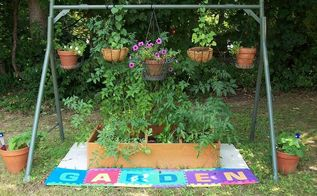 recycling in the garden, flowers, gardening, raised garden beds, repurposing upcycling, i think it turned out pretty good