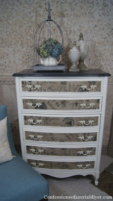 dresser with fabric inlay chalk paint painted furniture i love the