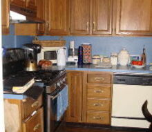 modern cottage kitchen, home improvement, kitchen backsplash, kitchen cabinets, kitchen design, The before kitchen may have been in fashion at the time but it was definitely in need of an update