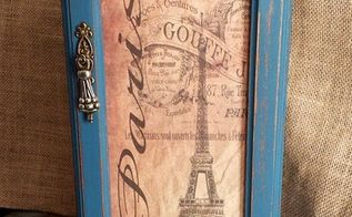 parisian up cycled jewelry box in french blue, repurposing upcycling, After