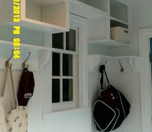 mudroom cubbies beadboard and benches, foyer, shelving ideas, storage ideas, woodworking projects
