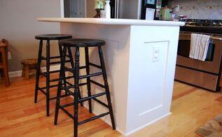 got a builder basic kitchen, home decor, kitchen design, kitchen island, painted furniture, After