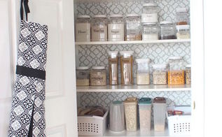 pretty pantry makeover, closet
