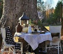 an autumn outdoor breakfast and how to create a vignette, outdoor living, seasonal holiday decor