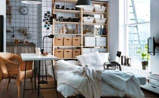 6 considerations when decorating a small space, home decor, shabby chic, urban living, 6 Storage Hidden is usually my preference but if you can pull off storage in a clean organized way I say go for it