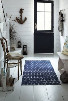 how about redecorating the entry in 1 hour using what you already own, doors, foyer, home decor