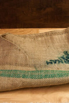 diy burlap frame mat, repurposing upcycling, I used a burlap coffee bag from