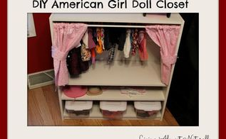 diy american girl doll closet, diy, how to