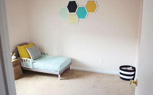 hexagon wall art from popsicle sticks, crafts, home decor