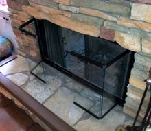 why burning with your fireplace glass doors open matters, doors, fireplaces mantels, home security