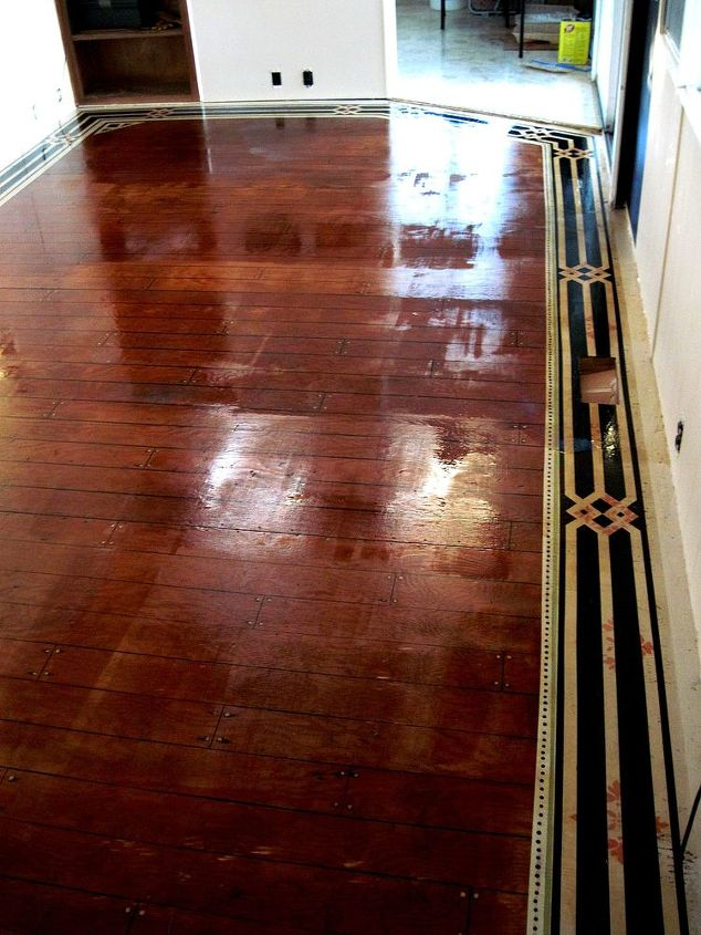 Painted Floor A 1964 Single Wide Mobile Home Make Over Hometalk