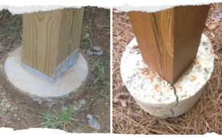 why deck posts should not be set in concrete