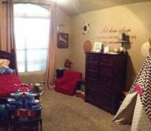 we made our grandson s room go from a baby s room to a big boy room, bedroom ideas, painted furniture
