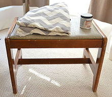 2 thrift store bench becomes a modern chevron beauty, home decor, living room ideas, painted furniture