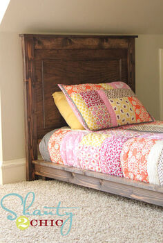 diy 30 twin platform bed, bedroom ideas, home decor, painted furniture