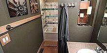 diy your own custom length towel bar, bathroom, repurposing upcycling