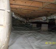 before amp after photos of encapsulating a crawlspace, home maintenance repairs
