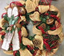 simply seasonal burlap decor, christmas decorations, crafts, seasonal holiday decor, wreaths, Burlap wreath