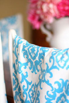 easy to make dining room chair back runners, crafts, home decor, Easy to make Chair Back Runners
