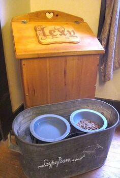 hide those huge bags of dog food an easy peasy diy solution, pets animals, repurposing upcycling, Here it is All finished See the other photos for befores