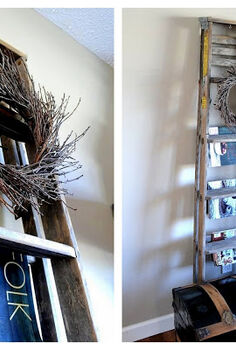 24 wow ideas from just a ladder, repurposing upcycling, Ladders provide an easy grab for your favourite magazines
